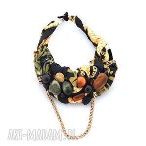jungle naszyjnik handmade, naszyjnik, kolia, kolorowy, wielobarwny, łańcuch, święta