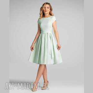 sukienki sukienka marie midi seledyn, pastelowa sukienka, pastele, letnia