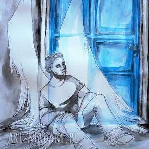 anioł stróż akwarela artystki plastyka adriany laube