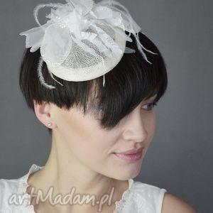 ozdoby do włosów toczek ślubny, ślub, toczek, ecru, unikalny prezent