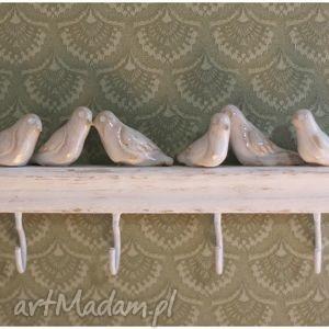 ręcznie zrobione ceramika wieszak z ptaszkami