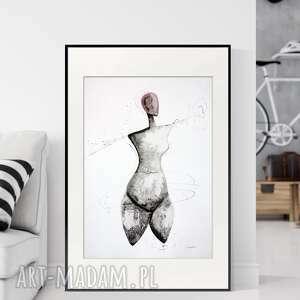 grafika 50x70 cm wykonana ręcznie, abstrakcja, obraz do salonu