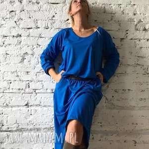 święta, blue dress-sukienka, minimalistyczna dres, boho dress, chabrowa, prosta