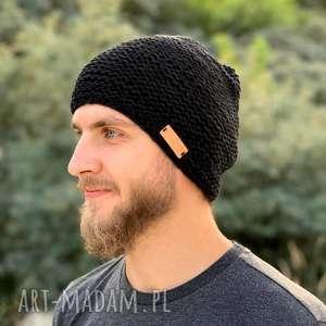 czapki męska czapka, nadrutach, męska, czarnaczapka, dodatki, naprezent