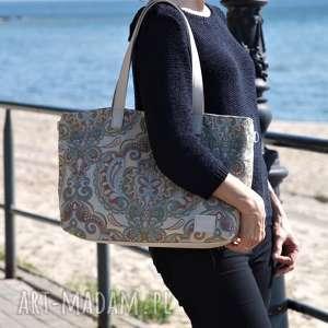 world of barracuda lekka i poręczna torba z wzorem zielona, torba, torebka