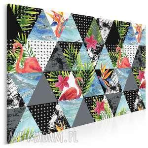 obraz na płótnie - trójkąty tropikalny 120x80 cm (39001)