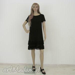 hand-made sukienki sukienka z frędzlami