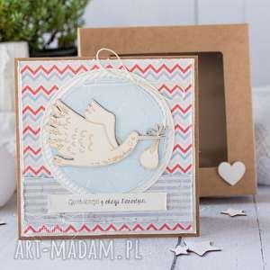 ręcznie robione kartki kartka z okazji narodzin, chrztu świętego. Gratulacje dla