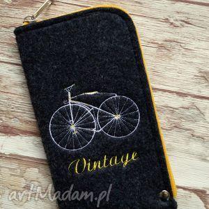 filcowe etui na telefon - vintage bike, etui, smartfon, prezent, retro, rower