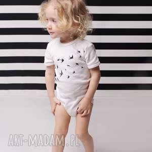 tricky forms body dla dzieci i niemowląt z krótkim rękawem - ptaki