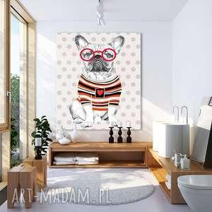 obraz na płótnie - 80x100cm bulwa, buldog francuski 02260, buldog, obraz, pies