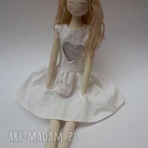 lalki lalka #104, szmacianka, przytulanka, tilda, bawełniana, wyszywana