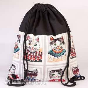 wesoły kot, torba, worek, plecak