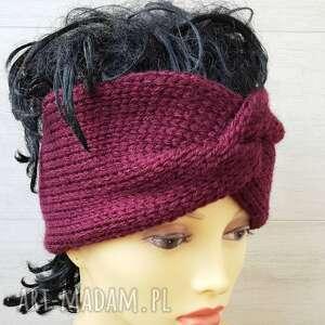 święta, wiosenna opaska, turban, wiosenne aksesoria, opaska na drutach