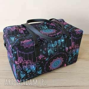 torba podróżna - łapacze snów, samolot, wakacje, podróż, pakowna, lekka