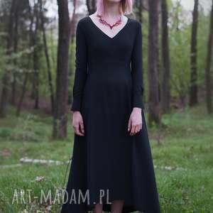 sukienki jedwabna czarna