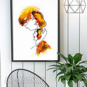 kof plakat obraz mother i feel you 30x40 cm, dekoracje na ścianę, wydruk
