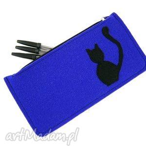 blue pencil-case, piórnik, kot etui