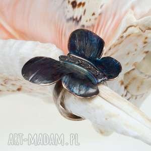 a514 pierŚcionek srebrny z motylem - pierścionek, srebro
