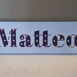 napis led twoje imię obraz dekoracja lampa personalizowany prezent na urodziny