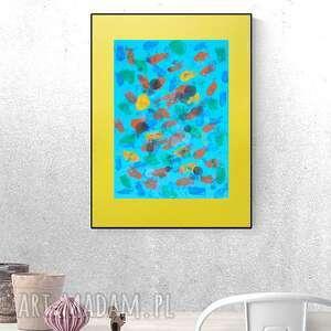 abstrakcyjna grafika, nowoczesna dekoracja na ścianę, abstrakcja do holu