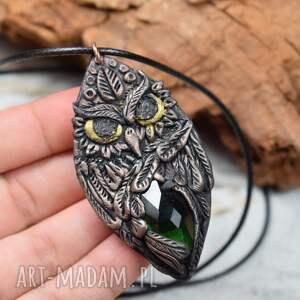 kameleon wisiorek sowa w stylu boho, sowa, biżuteria