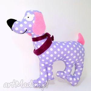 psiak azorek fiolecik - piesk, poduszka, maskotka, zabawka, przytulanka