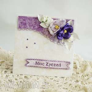 Kartka urodzinowa - fioletowa, z pudełkiem - ,kartka,kartka-urodzinowa,