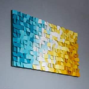 dekoracje mozaika drewniana na zamówienie, wall art, mozaika, obraz, obraz 3d, rzeźba