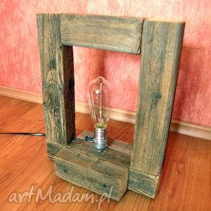 lampa stare drewno, retro, loft, s1 - lampa, drewniana, retro, loft, edison, unikat