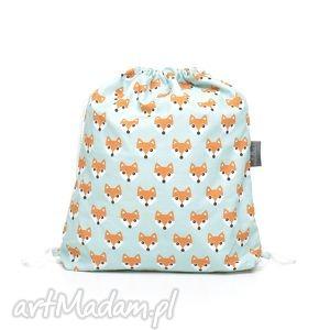 ręcznie robione dla dziecka plecak worek przedszkolaka liski