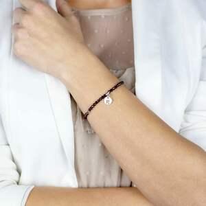 bransoletka z granatów i srebra take the risk /zaryzykuj/, biżuteria damska