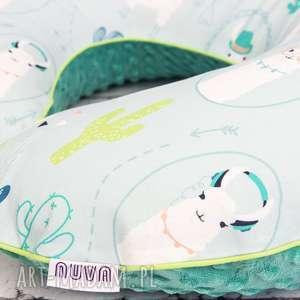 pokoik dziecka duża poduszka do karmienia lamy, poduszka, gniazdo, rogal