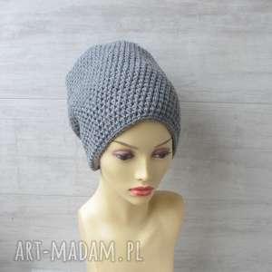duże czapki szydełkowe, czapka szydełkowa, zimowa, slouchy