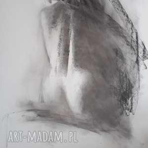 akt 100x70, grafika-akt, obraz-akt, rysunek-akt, rysunek-węglem, kobieta-rysunek