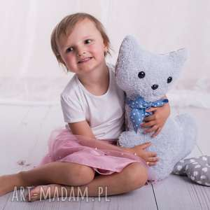 hand made maskotki przytulanka dziecięca kot
