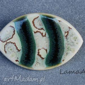 LamaArt: ceramiczna broszka. - prezezent, święta, upominek imieniny, urodziny
