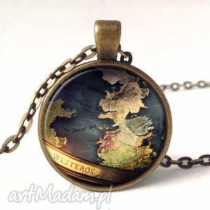 westeros - medalion z łańcuszkiem, mapa, tron, gra