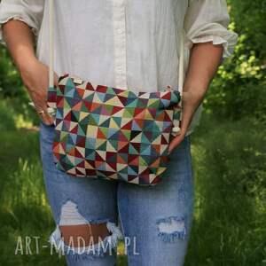 handmade na ramię mini geometry