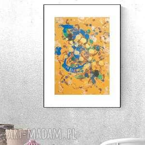 abstrakcja w ciepłych kolorach, nowoczesna grafika do salonu, oryginalna