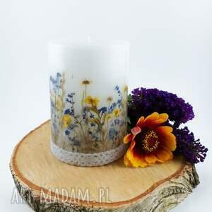 ludowelove świeca jaskrowe pole z suszonymi trawami kwiatami dekoracja do domu