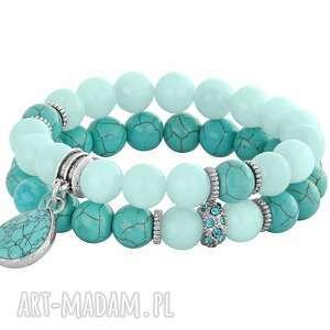 mint turquoise , howlit, jadeit biżuteria