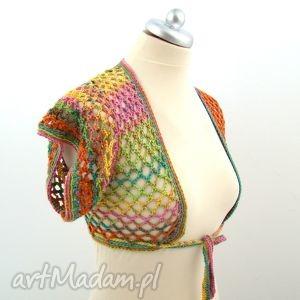 bluzki bolerko ażurowe kolorowe, bolerko, narzutka, ażur, wiązanka, lato