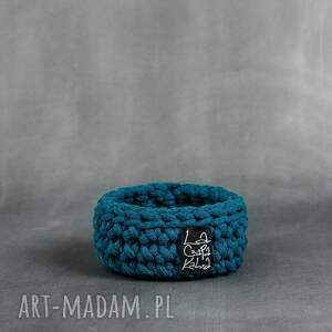 koszyk niski xs - niebieski morski, koszyk, koszyczki, koszyczek, dekoracja