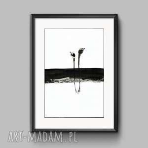 obraz A3 ręcznie malowany, abstrakcja, do salonu, abstrakcja-malarstwo