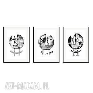 plakaty rota fortunae, komplet 3 plakatów autorskich, plakaty, autorskie