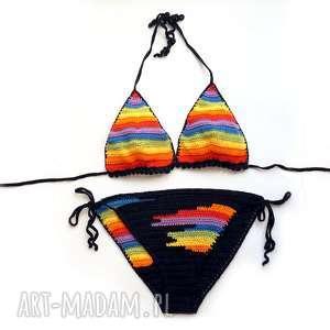 handmade bielizna tęczowe bikini