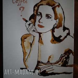 ręcznie wykonane obrazy propozycja - obraz kawą malowany