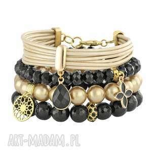 black ,perła,onyks,kryształki,zawieszka,