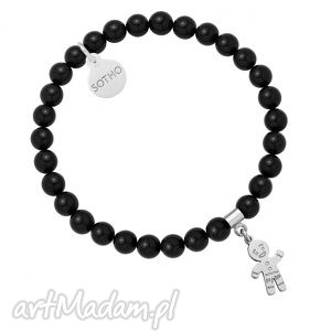 sotho czarny bransoletka z pereł swarovski® crystal ze - perły